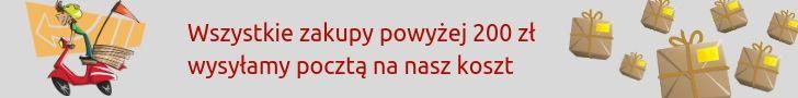 Darmowa dostawa pocztą dla zamówień za min. 200 zł