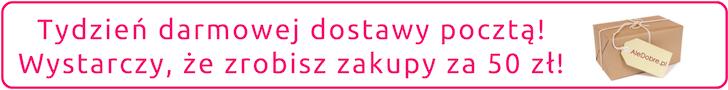 Darmowa dostawa pocztą dla zamówień za min. 50 zł