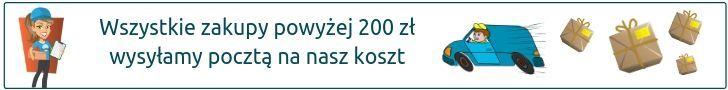 Dostawa Pocztš Polskš od 200 zł za darmo