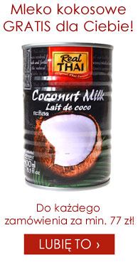 Puszka mleka kokosowego gratis do ka�dego zam�wienia za min. 77 z�!