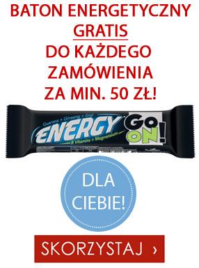 Baton energetyczny gratis do każdego zamówienia za min. 50 zł