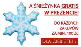 Foremka w kształcie snieżynki gratis do każdych zakupów za min. 200 zl