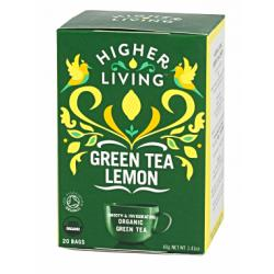 Zielona herbata Green Tea Lemon (20 saszetek) - Higher ...