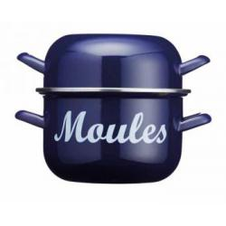 Garnek do małży Moules, niebieski (18 cm) - Kitchen Cra...